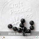 Black Beads, 20 pcs. - 5mm