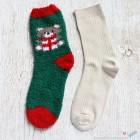Chenille Microfiber Socks Set - Christmas Bear