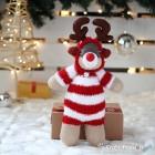Stripy-Red Sock Reindeer