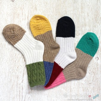 Thick Knitted Wool Socks - 4 Colors