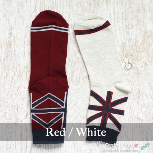 United Kingdom Flag Cotton Socks - 2 Colors