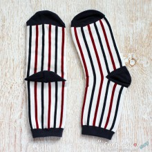 Vertical Stripes Cotton Socks