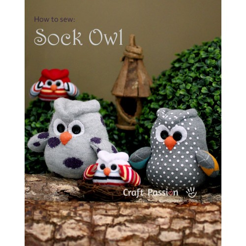 Sock Owl Kit - Free Gift With Purchase of Socks