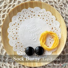 Sock Bunny (Lop-Eared) Kit - Free Gift With Purchase