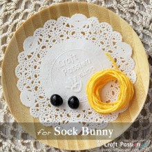 Sock Bunny Kit - Free Gift With Purchase