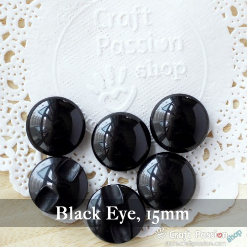 Black Animal Eyes, 1 pack - 9mm, 11.5mm, 13mm, 15mm