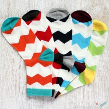 Chevron Cotton Socks - 5 Colors