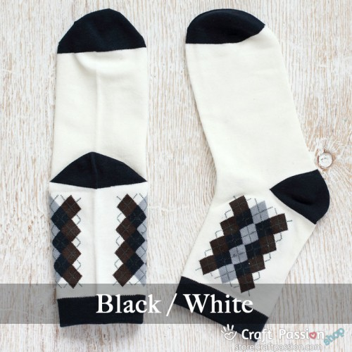 Argyle Cotton Socks - 5 Colors