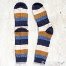 Wide Stripe Knitted Cotton Socks