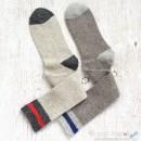 College Knee High Wool Socks - 2 Colors
