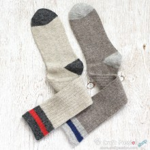 College Knee High Wool Socks - 2 Colors