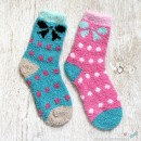 Bow Chenille Microfiber Socks Set - 2 Colors