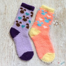 Bunny Chenille Microfiber Socks Set - 2 Colors