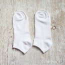 White Cotton Ankle Socks