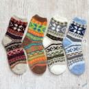 Ethnic Chenille Microfiber Socks Set - 4 Colors