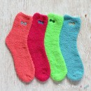 Plain Chenille Microfiber Socks Set - 4 Colors