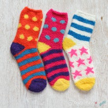Stripe Microfiber Socks Set - 3 colors