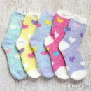 Heart Chenille Microfiber Socks Set - 5 Colors