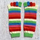 Rainbow Stripe Toe Socks - Various Colors