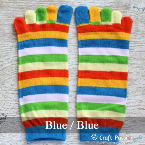 Rainbow Stripe Toe Socks - Various Colors