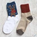 Chenille Microfiber Socks Set - Christmas Reindeer