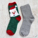 Chenille Microfiber Socks Set - Santa Claus