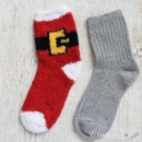 Chenille Microfiber Socks Set - Santa Claus Suit