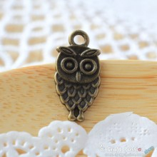 Owl Charm A - small [ 5 pcs / pack ]