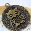 Owl Charm I - large