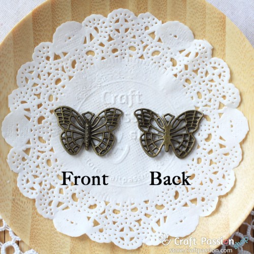 Butterfly Charm A - medium [ 2 pcs / pack ]