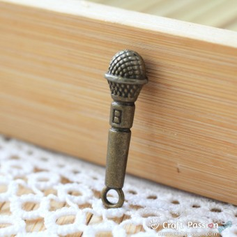 Microphone Charm A - small [ 2pcs / pack ]