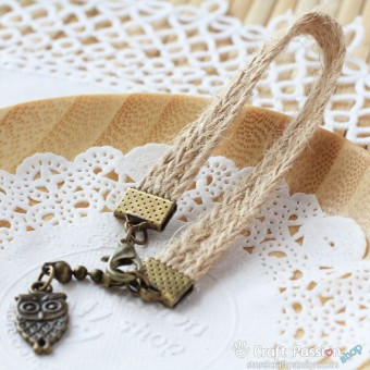 Jute Lace Keychain A