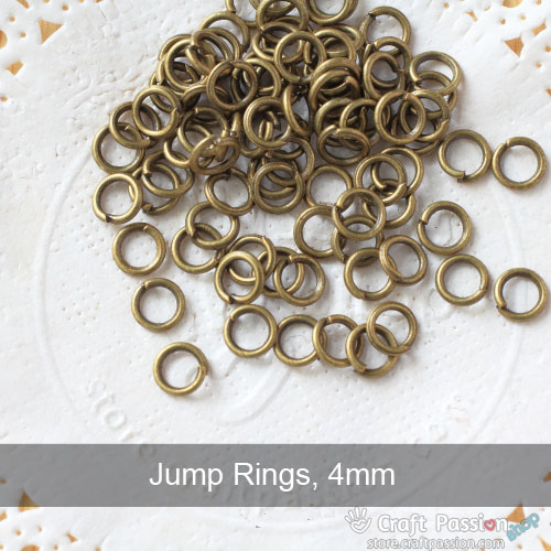 Jump Rings, 1 pack - 8mm, 5mm, 4mm