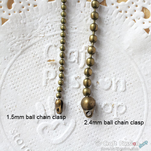 Ball Chain End Clasps [ 10 pcs / pack ]