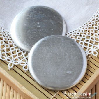 Macaron Coin Purse Case, Circle, 75mm - 1 pair
