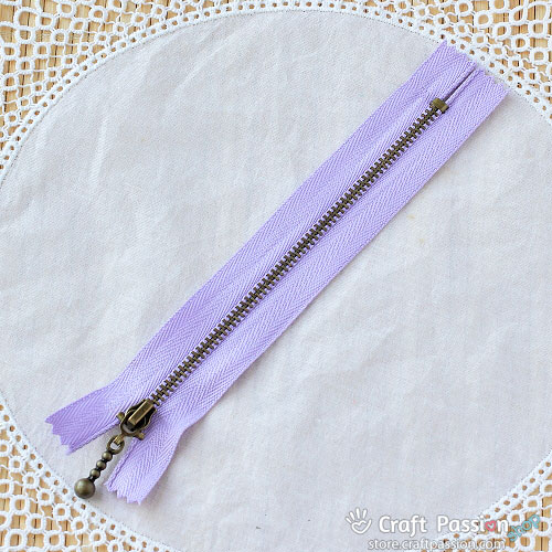 "Metal Zipper, 15cm (6""), Ball Drop Zipper Pull"