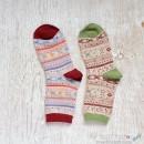 Fair Isle Knit Wool Socks