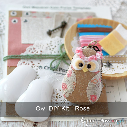 Owl Macaron Coin Purse DIY Kit Pack