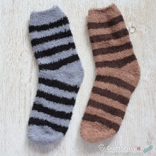 Chenille Microfiber Socks Set - Stripes