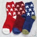 Chenille Microfiber Socks Set - Star