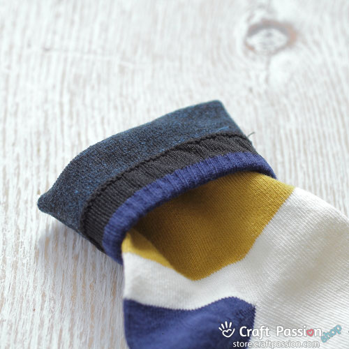 Wide Stripes Cotton Socks - Blue