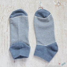 Stripes Ankle Socks - Denim Blue