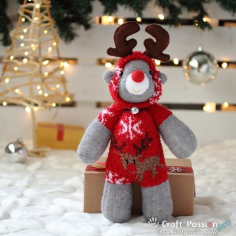 Red Sock Reindeer