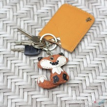 Freddy Fox Leather Charm with Keyring and Hook - Small