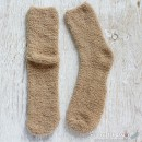Chenille Microfiber Socks - Khaki