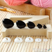 Safety Nose (Black), 5 pcs - 8mm, 12mm, 18mm, 22mm, 26mm