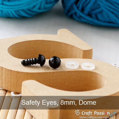 Safety Eye (Black), 5 pairs - 6mm, 8mm, 10mm, 12mm, 14mm, 16mm, 18mm, 20mm, 22mm, 24mm