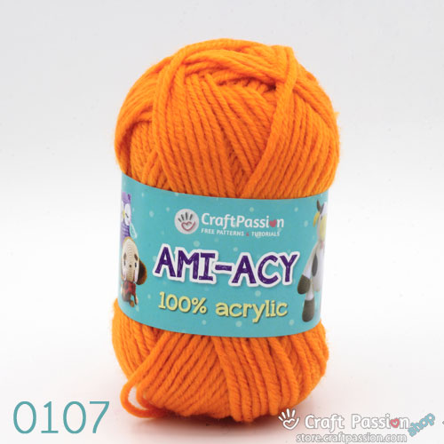 Ami-Acy Acrylic Yarn, 50g/ball, 47 colors
