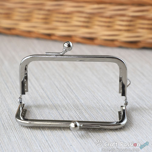 KissLock Purse Frame, 8.5cm, Rectangle Arch