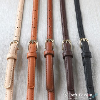 PU Leather Sling Strap, Adjustable Length, 1.04 to 1.14 Meter Long